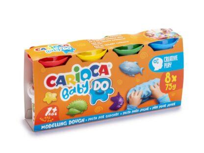 Plastilină Baby Dough Carioca 8x75 g/cutie