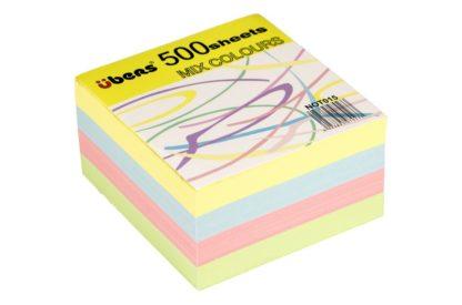 Rezervă cub din hârtie color 500 file