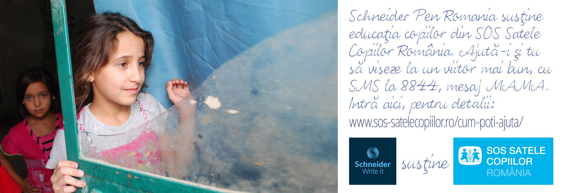 Schneider susține SOS Satele Copiilor