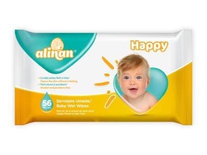 Șervețele umede bebe Alinan 56 buc/set