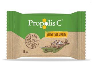 Șervețele umede Propolis C 15 buc/set