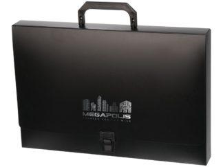 Servietă Megapolis din plastic negru