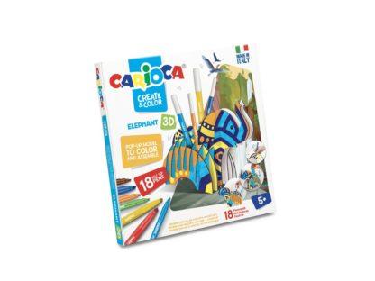 Set creativ Create & Color Carioca Elefant 3D