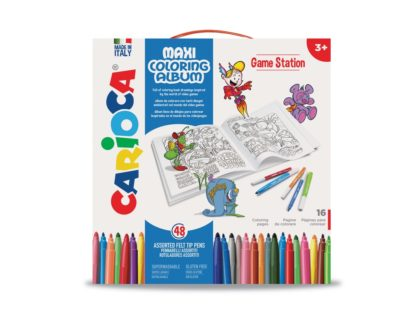 Set creativ Maxi Coloring Album Game Station cutie
