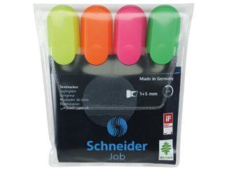 Set Textmarker Schneider Job 4 culori