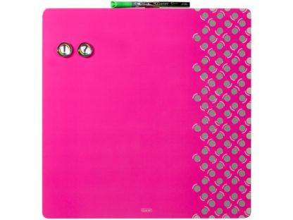 Tablă magnetică color combo fără ramă roz