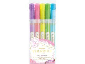 Textmarker Kirarich Glitter 5 culori/set Zebra