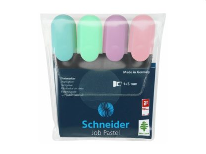 Textmarker Schneider Job Pastel 4/set