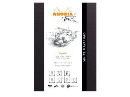 White Maya Pad A5 Rhodia Touch Layout ambalaj